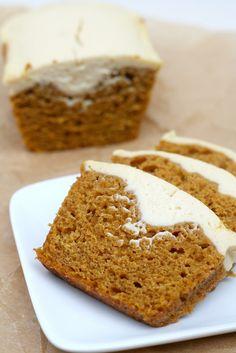 Pumpkin Maple Cheesecake Mini-Loaves via Maggie of A Bitchin' Kitchen