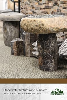 Our showroom in Matawan, New Jersey is home to a wide variety of stone décor, water features, bubblers and fountains.