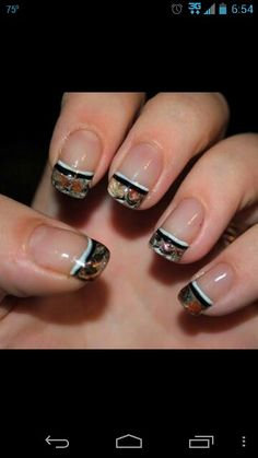 Camo nail tips....gotta love it!!