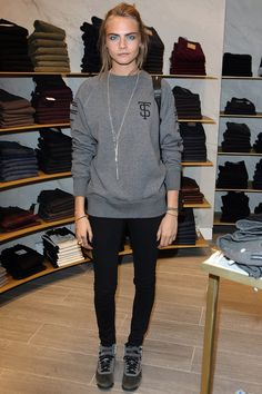 Trilogy Chelsea store opening, London - August 21 2013  Cara Delevingne.