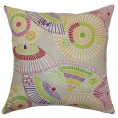 Crafted from a linen mix, this cushion adds interest to your hallway bench or bedspread. Finished in vibrant hues, it instantly lifts your current look.