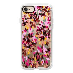 DAHLIA DOTS 5 - Colorful Rainbow Pastel Hot Pink Rust Brown Yellow... ($40) ❤ liked on Polyvore featuring accessories, tech accessories, iphone case, iphone cover case, print iphone case, apple iphone cases, iphone cases and polka dot iphone case