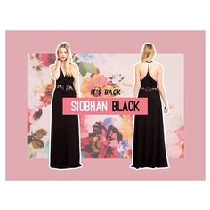 Back my popular demand! Our classic Siobhan maxi dress in black!