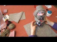 Как сделать домовёнка. - YouTube Jute Crafts, Diy Arts And Crafts, Xmas Crafts, Craft From Waste Material, Doll Videos, Kobold, Felt Decorations, Needle Felted Animals, Doll Maker