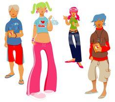 oishi character designs