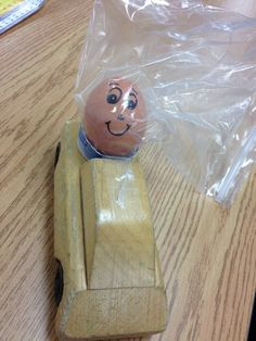 "Fun ""Force and Motion"" Experiment:  Mr. Egghead goes for a ride!  Will he make it?"