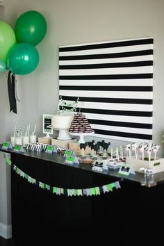 Bodhi's modern stripes and dots cow birthday party-Part I of course! -