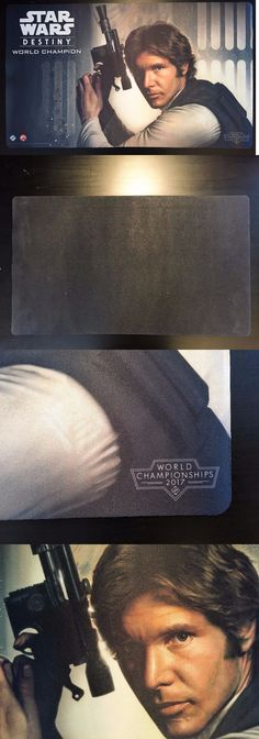 Other CCG Items 2535: Star Wars Destiny World Champion 2017 1St Place Han Solo Playmat Ffg Very Rare -> BUY IT NOW ONLY: $1749.99 on eBay!