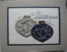 Stampin Up Christmas Card Kit Dual Ornaments