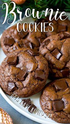 Mini Desserts, Cookie Desserts, Easy Desserts, Delicious Desserts, Brownie Recipes, Chocolate Recipes, Cookie Recipes, Dessert Recipes, Chocolate Lovers