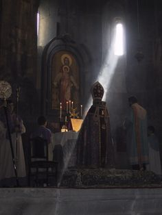 Armenian liturgy is among the most ancient in the Christian world. This photo was taken in 2001 in a small church in provincial Armenia. It is one of many churches that have been reopened since the end of communism.