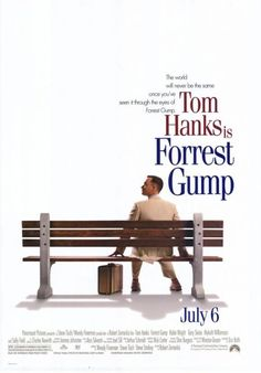 Forrest Gump is a romantic comedy film released in It starred Tom Hanks, Robin Wright and Gary Sinise and directed by Robert Zemeckis. The story centers around an innocent and dull-witted man named Forrest Gump and his personal recount of the m. Film Movie, See Movie, Movie List, 90s Movies, Great Movies, Movies To Watch, Iconic Movies, Amazing Movies, Famous Movies