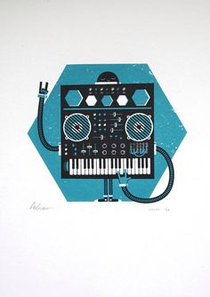 Synthi screen print £25.00 from the Peskimo Etsy shop