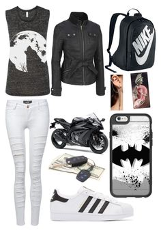 """Untitled #464"" by angelofadorability on Polyvore featuring Pilot, adidas Originals, Casetify, Kawasaki, NIKE and Akira"