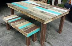Pallet Dining Table And Bench Set | Pallet Furniture DIY (Diy Furniture Crates) #palletfurniturekitchen #palletfurniturebench