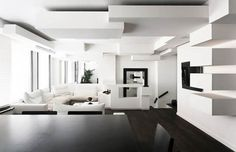parisian room decor/images | Contemporary Apartment in Paris With Architectural Blocks on the ...
