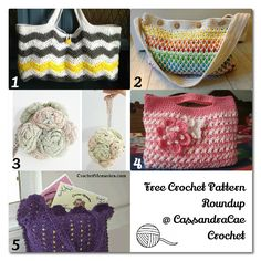 That Crafty Girl From Ohio: Free Crochet Pattern Roundup -- Crochet Bags