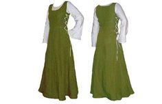 Kostüme für Erwachsene - MITTELALTER KLEID LEINEN GEWAND REENACTMENT 2Teile - ein Designerstück von mittelaltersuse bei DaWanda