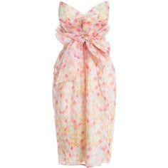 Ringmaster Paperbag Dress (£235) ❤ liked on Polyvore featuring dresses, vestidos, robes, sash belt, summer dresses, pink summer dresses, harlequin dress and pink dress