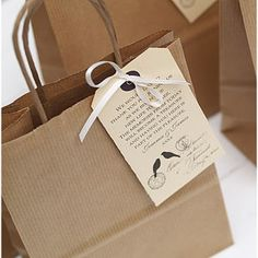 Personalised Wedding Favour Bag And Label