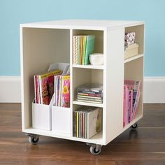 Rolling Under-Desk Storage - Keep Your Desk Clear and Store Everything in This Adorable Cart