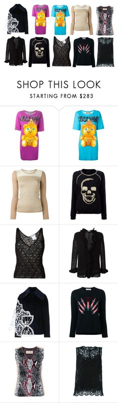 """""""tops fashion trends"""" by monica022 ❤ liked on Polyvore featuring Moschino, Sonia Rykiel, Philipp Plein, Christian Dior, Xiao Li, Valentino, THEATRE PRODUCTS, Dolce&Gabbana and vintage"""