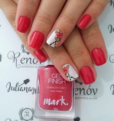 Best Nail Art Designs 2018 Every Girls Will Love These trendy Nails ideas would gain you amazing compliments. Best Nail Art Designs, Nail Polish Designs, Beautiful Nail Designs, Beautiful Patterns, Nails Design, Pedicure, Cool Nail Art, Red Nails, Nail Artist