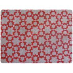 un très beau coton imprimé graphique corail et sable !!!