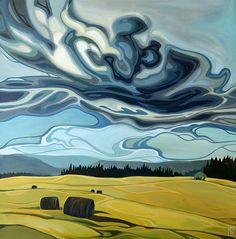 31 Best Ideas for art painting oil sky Watercolor Sky, Watercolor Landscape, Abstract Landscape, Landscape Paintings, Canadian Art, Amazing Art, Art Photography, Landscape Photography, Cool Art