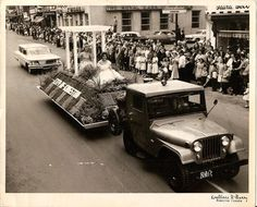 City of Kingston (Ontario) float 1960 (my mom is at front)