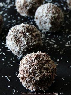 palline cocco cioccolato senza cottura