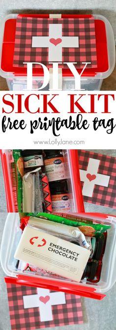 Back to school emergency kit pinterest teacher teen and gift sick kit ideas free printable tag solutioingenieria Gallery