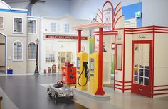 Kidtropolis Gas Station | Photo: Kidtropolis - Great article written about our customer Kidtropolis in Richmond, BC. We just completed this install. My Town Village and a themed indoor playground. #weBUILDfun #Iplayco for more info contact us at sales@iplayco.com