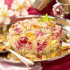 Halva aux framboises, amandes et noix de coco parfumée à la fleur d'oranger l Recette dessert Tipiak