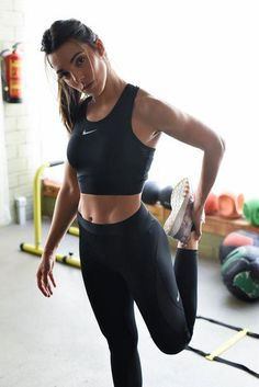 801fa639 Sexy Chic All Black Everything All Nike Everything Workout Outfit Black  Nike Crop Sports Top And