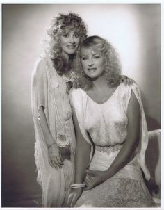 Stevie Nicks & Christine McVie photographed by George Hurrell 1982