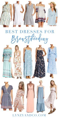 Best Dresses for Breastfeeding - A roundup of the clothing that makes breastfeeding easier! Lynzy & Co.