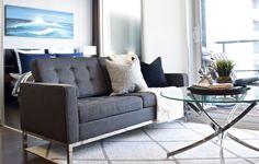 Modern condo design. Design collaborators: Reyes & Co. Design Studio and Samantha Concepcion Designs Condo, Reyes, Contemporary Interior, Sofa, Interiors, Projects, Furniture, Home Decor, Log Projects