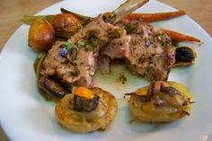 Cuisine en folie: Carré d'agneau en croûte d'herbes aux pommes de terre rôties