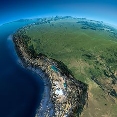 Exaggerated Relief Map of the Andes and Amazon Basin [2000 × 2000] : MapPorn