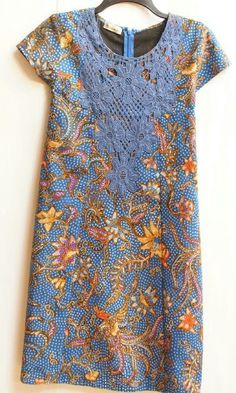 Dress renda pekalongan - very interesting concept #blue