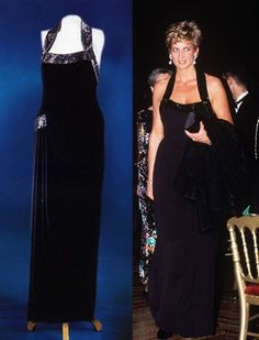 November 28, 1994: Princess Diana wearing a Catherine Walker creation at the UNESCO charity dinner at the Palace of Versailles in Paris, France.