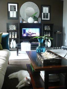 Sala de estar ecléctica por STYLING PUNTO FOCAL