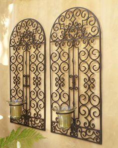 imagem relacionada outdoor wallsoutdoor decoroutdoor - Wrought Iron Wall Decor