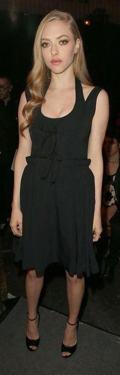 Amanda Seyfreid at Paris Fashion Week