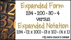 Teaching expanded notation with hands-on materials. Grab a freebie, too!