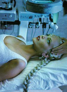 Nadja Auermann in Diary of a Spa for Vogue, June 1994 Shot by Ellen Von Unwerth Styled by Grace Coddington