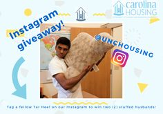 **GIVEAWAY** 6/1/16 - 6/3/16 ~ Follow @unchousing on Instagram for home decor giveaways this whole summer!! First up, two (2) snuggable husband pillows.. male not included! https://www.instagram.com/unchousing/