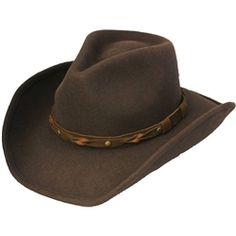 5a24cf70107 Henschel Brown Wool Cowboy Hat