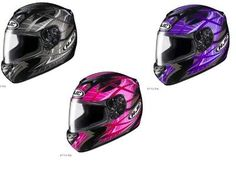 HJC Adult CS R2 Storm Helmet New Pink Purple Silver 55 83 ECKLUND MOTORSPORTS